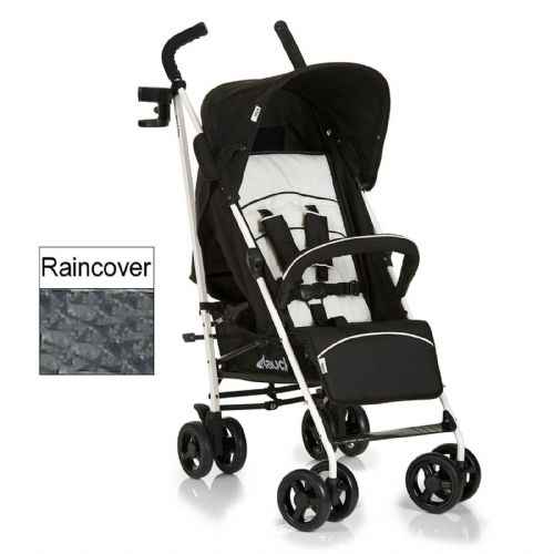 New Hauck Speed Plus Night black pushchair buggy pram stroller+RAINCOVER